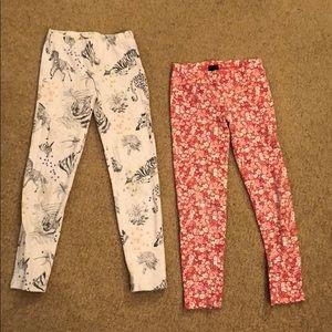 Two pairs of gap kids leggings